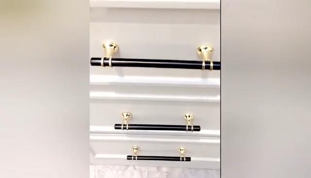 Amazon Hotsale Moderne Simple Styles Tirez la Poignée D'armoire Noir Armoire Poignées