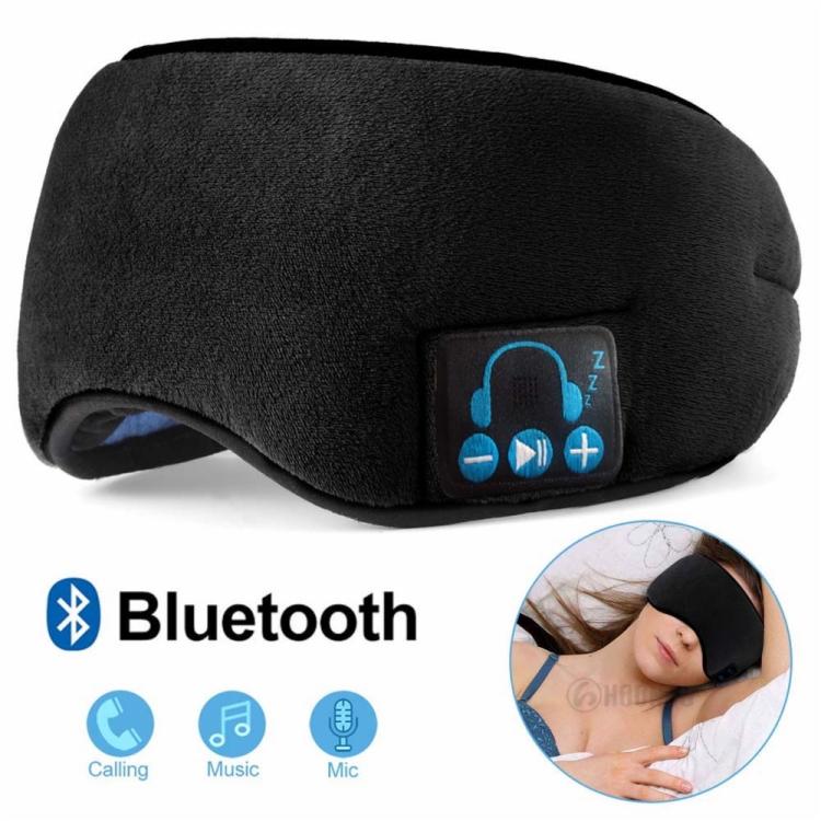 Bluetooth Headband Wireless Sleep Travel Eye Mask Headphone 3D Eye Mask - idealBuds Earphone | idealBuds.net