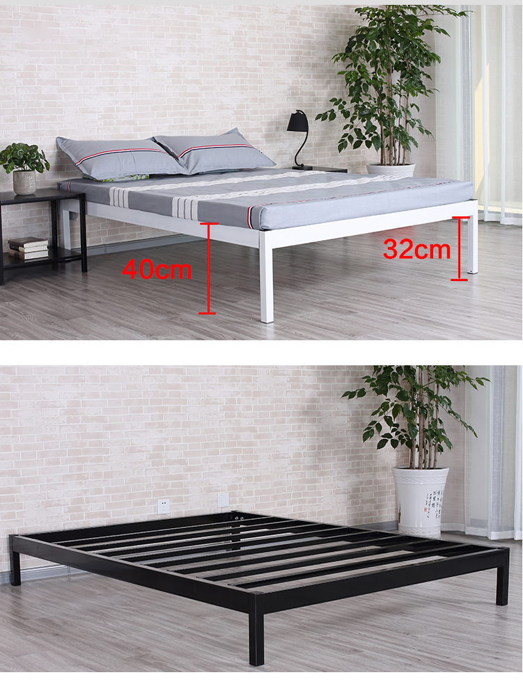 Welltop  Bedroom Furniture Metal Double Bed Frame For Students Steel Apartment  Bed VT14.019