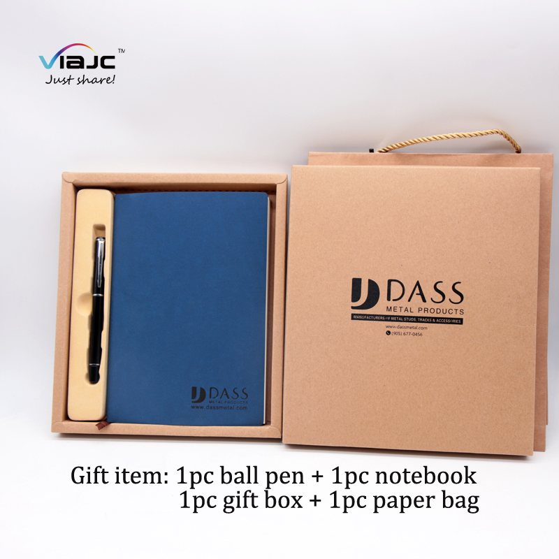 Best selling items promotional customized value pen PU notebook set  with company logo cooperate gifts