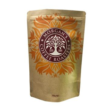 Custom Printing Kraft Paper Bags Resealable Ziplock Stand Up Pouch Coffee Tea Bag With Air Valve