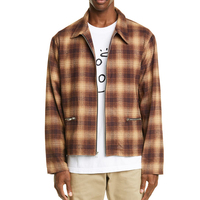 Wholesale 2019 fashion style high quality plaid mens winter flannel zip jackets custom mens jackets for Autumn
