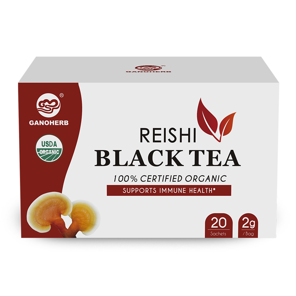 Free Sample Wholesale Organic Black Tea Bag With Ganoderma Lucidum Reishi Mushroom Lingzhi with Private Label - 4uTea | 4uTea.com