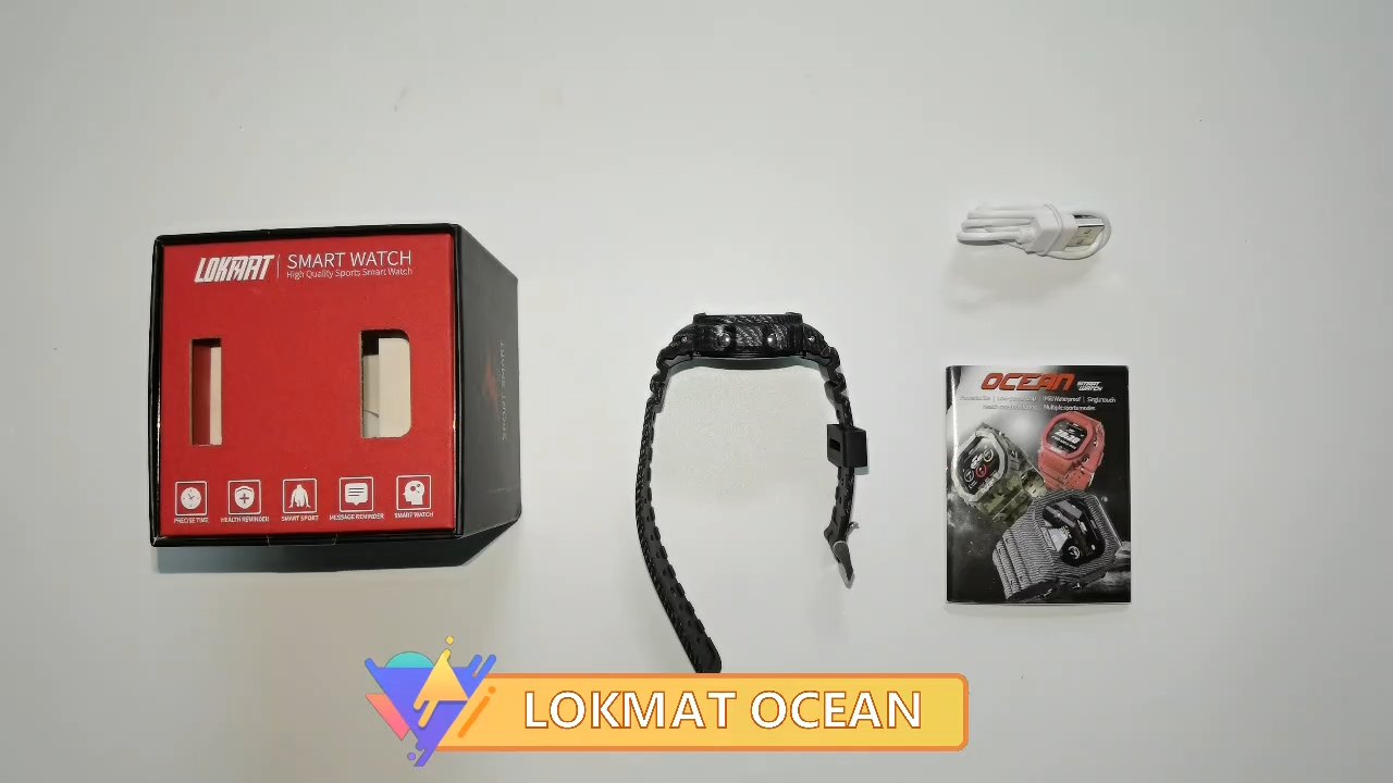 Lokmat Ocean 2020 IP68 Tahan Air Olahraga Smart Watch Lokmat Laut Smart Gelang