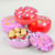 3 Sizes round chocolate candy tin box cute cat pattern printing chocolate tin can