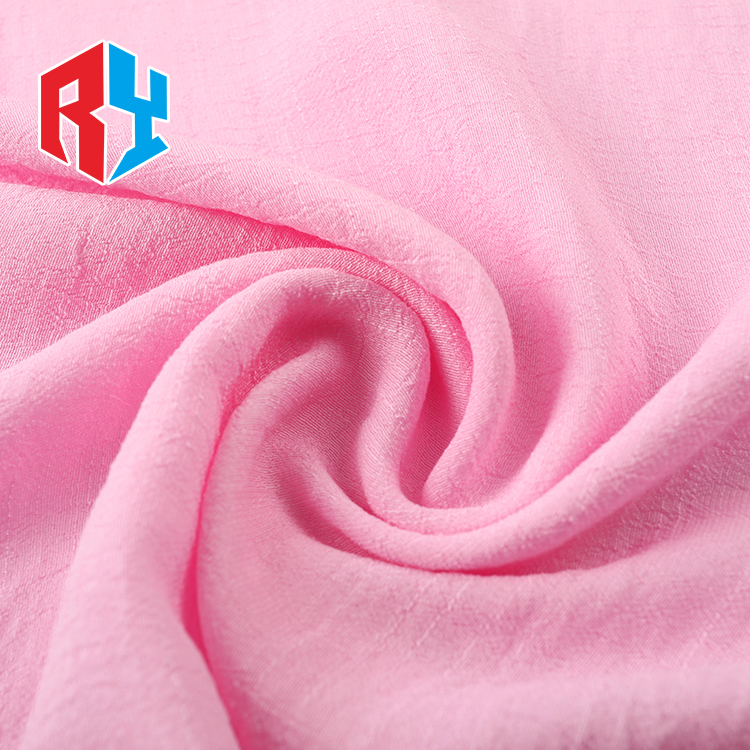 Latest product 75gsm pink comfortable custom rayon p/d fabric for garment