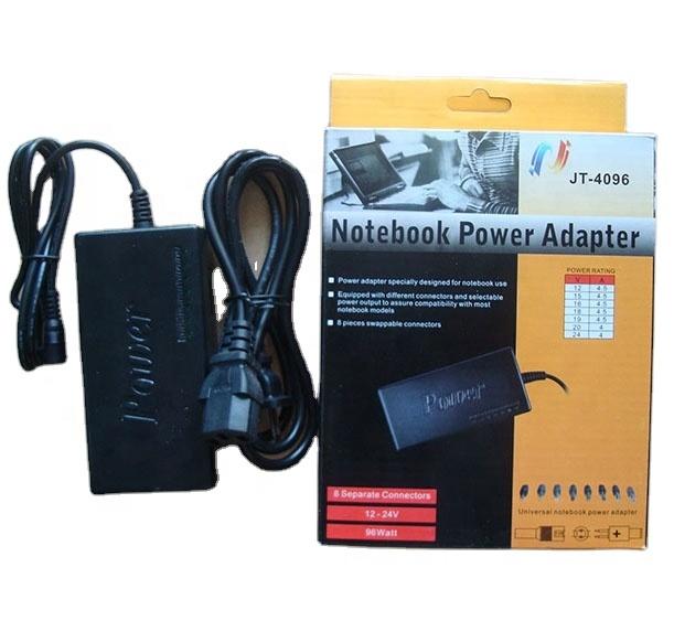 96W Multi-Função Universal AC DC Adaptador de Alimentação Carregador de 15V-24V para Notebook Laptop