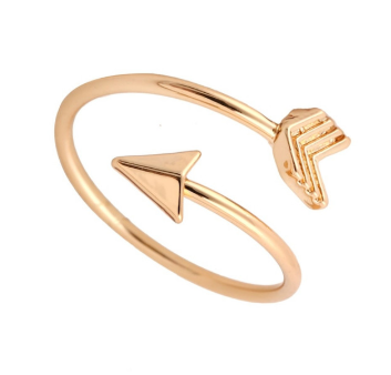 Vintage Arrow Rings For Women Ladies Elegant Finger Ring Adjustable Size Prsten Friend New Year Gift
