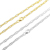 Hot Popular Paper Clip Chain Fashion Cool Style Silver Chain In Gold Plated