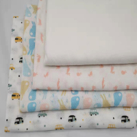 100% pure cotton textile printing textile fabrics double gauze fabrics, suitable for infant clothing