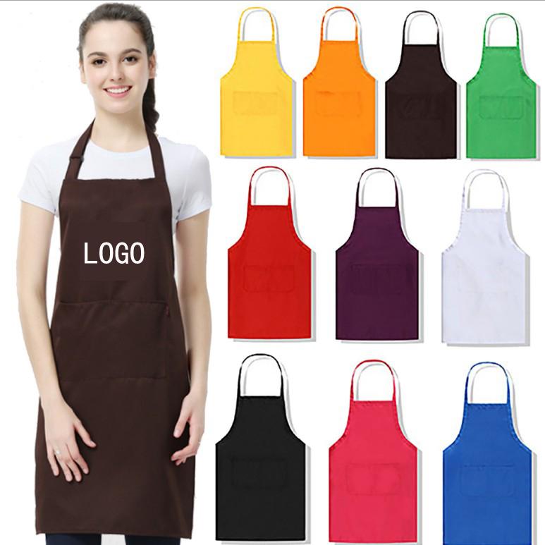 Chef apron customized cotton fabric aprons custom logo apron