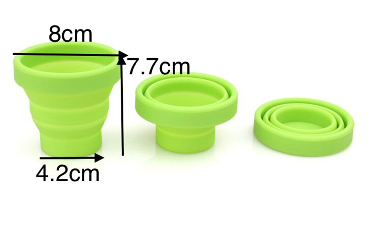 Low MOQ Wholesale Silicone Rubber Travel Camping Folding Coffee Drinking Cup Collapsible Menstrual Cup