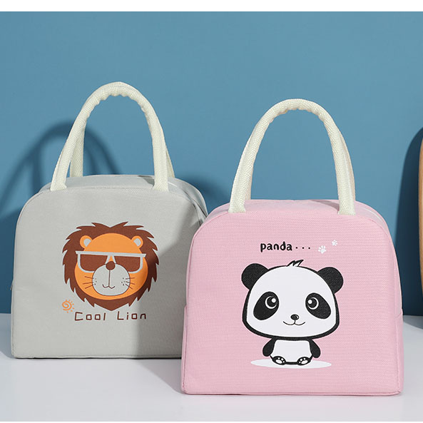 product-GF bags-tue cartoon lunch bag for women new pink panda girl hand cooler bags portable therma-2