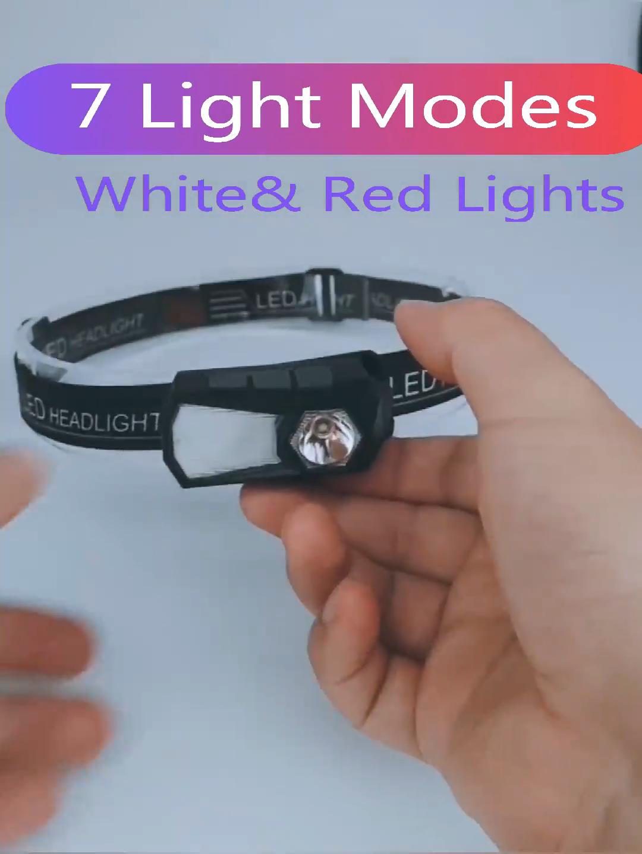 NEW Smart 360 degree rotation USB Rechargeable Headlamp Flashlight  running lights Reading Clip light