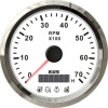 KUS 85mm 0-7000 RPM Motorcycle Truck Car Bus Tachometer With 4 LED Alarm Function