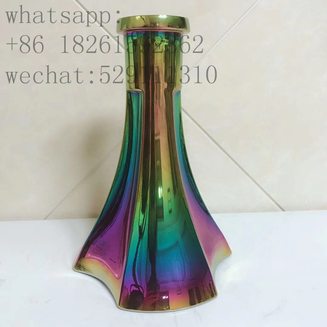 Rainbow hookah bulb glass hookah base flask shisha vase