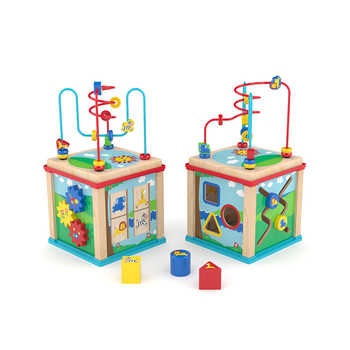 Hot Sell Wooden Activity Cube Toy,Wooden Activity Cube