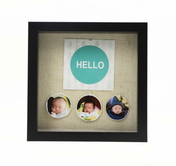 "8x8"" linen photo frame, Shadow box picture frame, 3D photo frame"