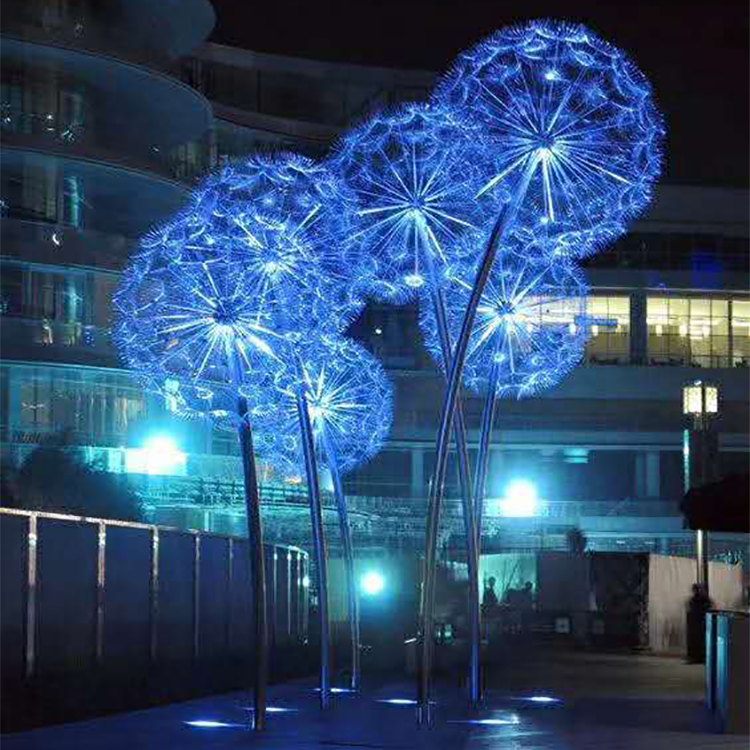2020 China Outdoor Restaurant Hot Sale Lighting Decoration Outside Dandelion Tree Light Decor Flower Decorative Led Lights