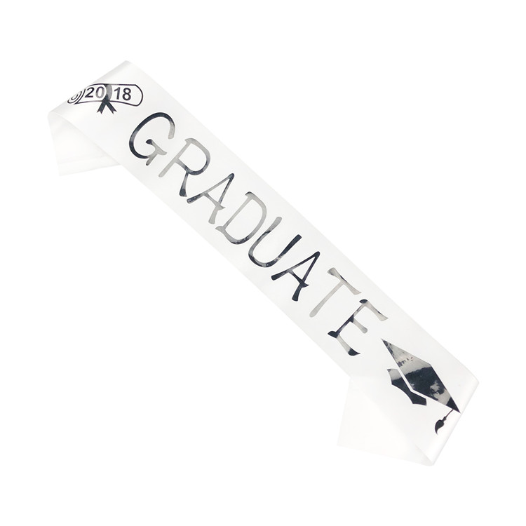 Exquisite Graduate Students Gift Soft White Adults Unisex Graduation Stole Graduation Sash