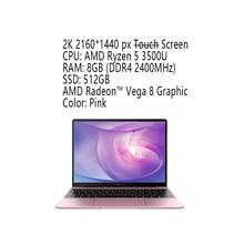 HUAWEI MateBook 13 Новый 2020 ноутбук с i7-10510U 16 ГБ 512 ГБ SSD MX250 2K сенсорный экран ноутбук с подсветкой(Китай)