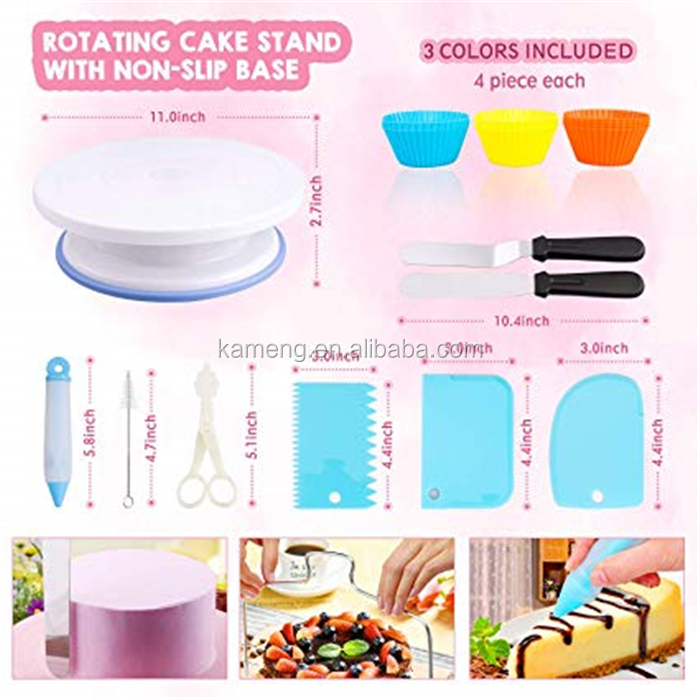 Cake Turntable Set Supplier wholesale Revolving Cake Turntable kit Decorating supplies baking tools Cake Stand