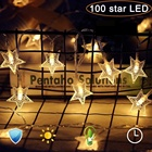 Light Led Decoration Lights Smart 100 APP Remote Control Indoor Window Waterfall Christmas Tree Decor Twinkly Star Moon Cluster Mini Led String Light