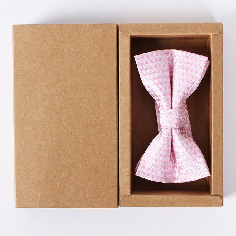 Kraft caixa de embalagem gravata personalizada