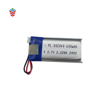 rechargeable 3.7v 600mah li-polymer battery with factory price in stock