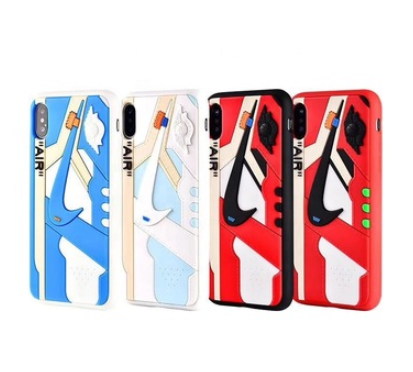 for 3D AIR Jordan AJ1 Sports Shoes Phone Cases Off White Cover for iphone 7 8 plus xs xr 11 11 pro max phone silicone case