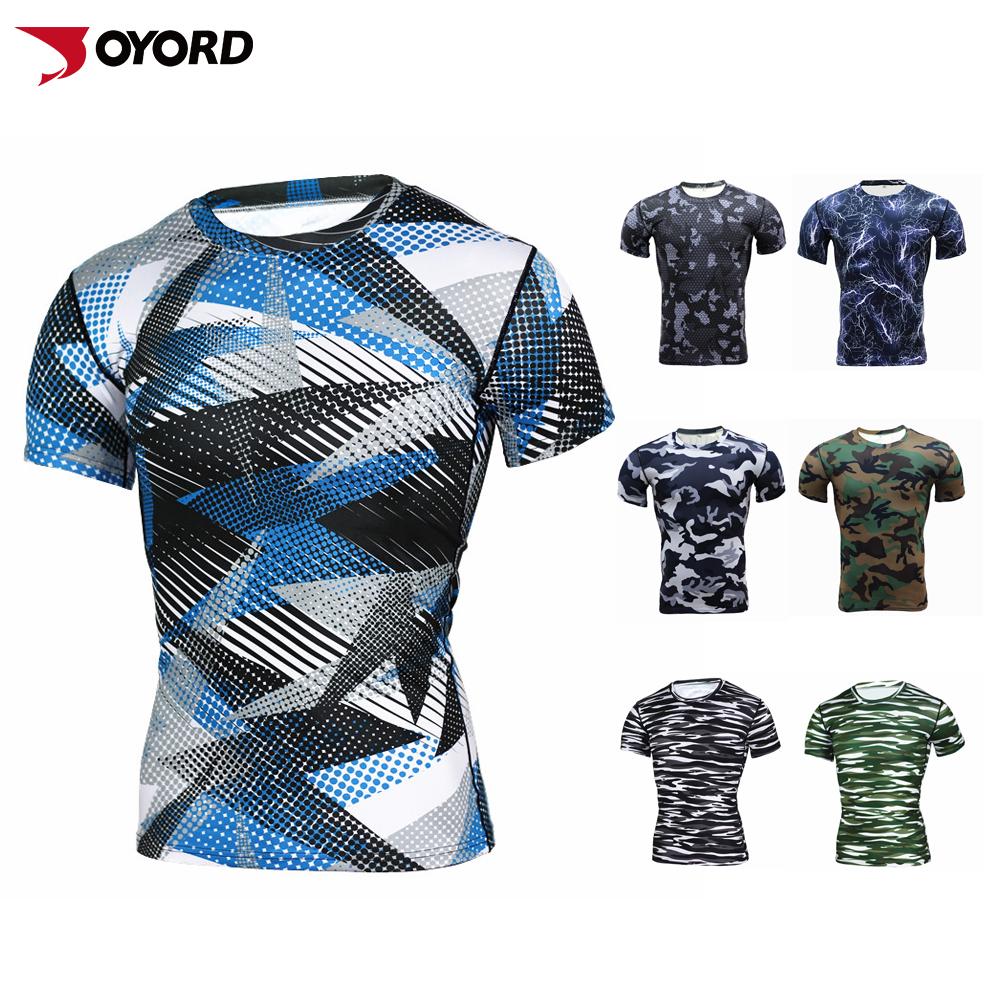 Custom Moisture Wicking Sun Protect Tshirt Mens Fitness Compression
