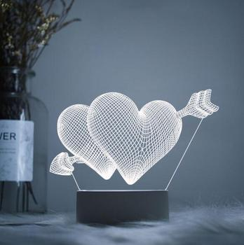 3D Night Lights Optical Illusion Lamps LED Night Lamps Acrylic 3d Light Decorative Gift for Kids