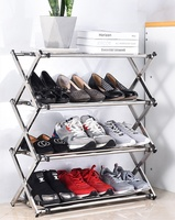 Multi Function High Quality Foldable Folding Stainless Steel Display Shoe Rack Stand
