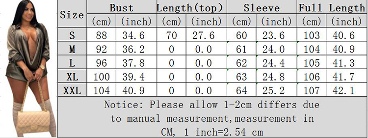 0042917 Good Quality Imitated Silk Fabric Deep V Comfort Long Top Solid Color Long Sleeve Woman Fashion Plus Size Summer Dress
