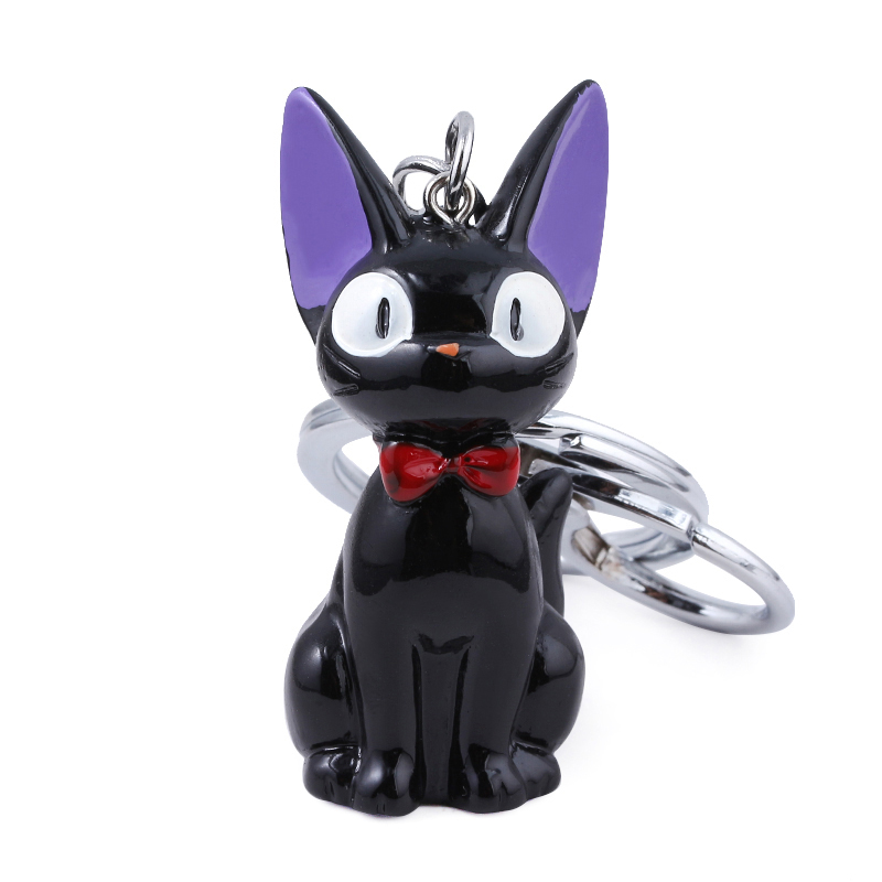 Anime Kikis Delivery Service Black Cat Keychain