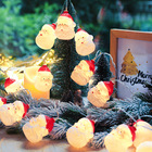 Light Led Decoration Lights Hot Sale Holiday Merry Christmas Tree Santa Battery Cute LED Decorations String Light