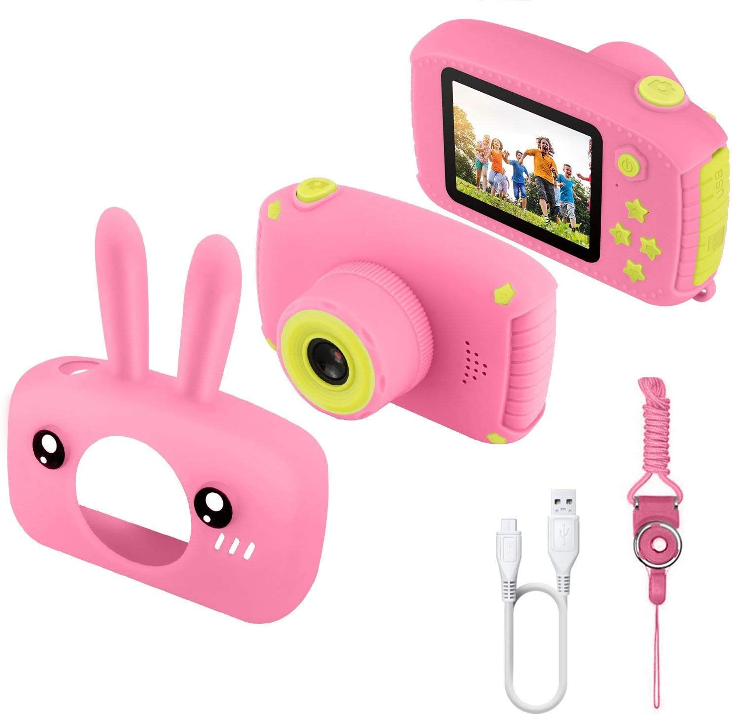 2020 Christmas 2 Inch Screen HD Digital Mini Camera Kids Cartoon Cute Camera for Kids Photo