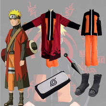 Unisex Anime Japonês <span class=keywords><strong>NARUTO</strong></span> <span class=keywords><strong>Uzumaki</strong></span> <span class=keywords><strong>Naruto</strong></span> <span class=keywords><strong>Cosplay</strong></span> Conjunto Completo Traje Para Adulto