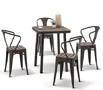 Come Pulire Le Sedie Di Plastica Da Giardino.Curva Mobili Da Giardino Esterno Di Bambu Di Plastica Tavolo E