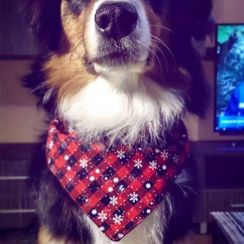 Wholesale Custom printed dog pet bandana neckerchief scarf for dog