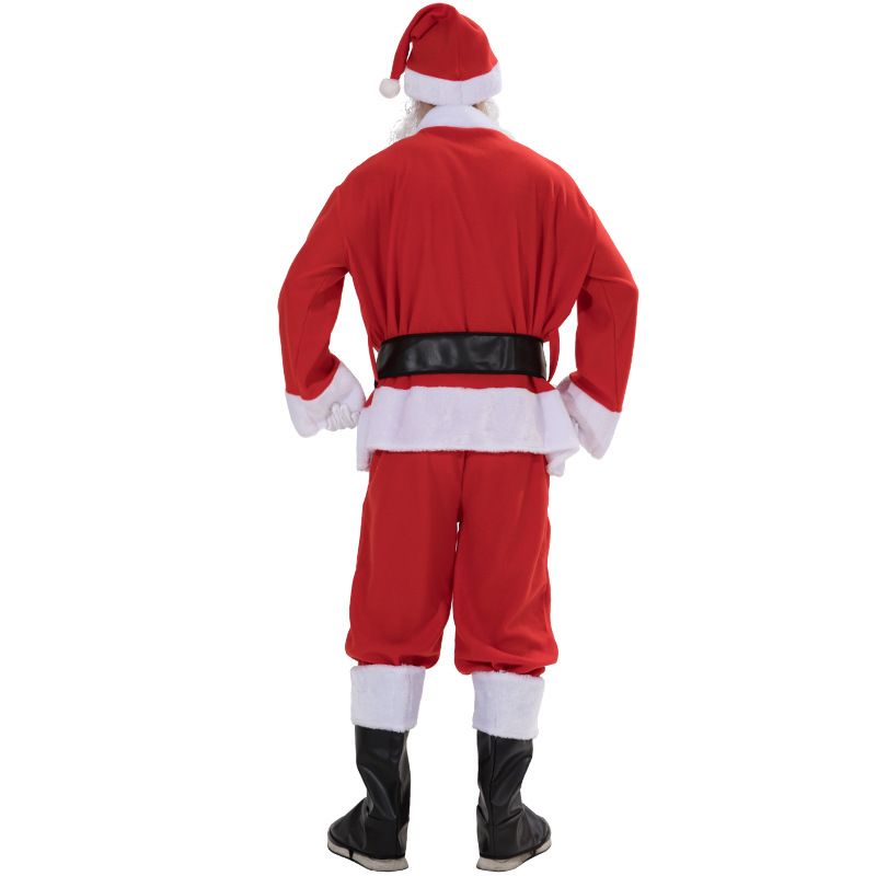 high quality Christmas Santa claus velvet clothes costumes
