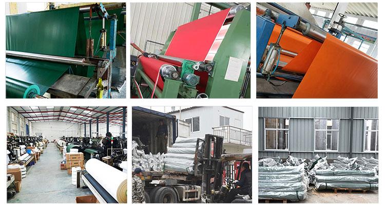 China de fábrica barato Anti-frío Grey 600GSM imprimible al por mayor de PVC lona del remolque del camión cubierta