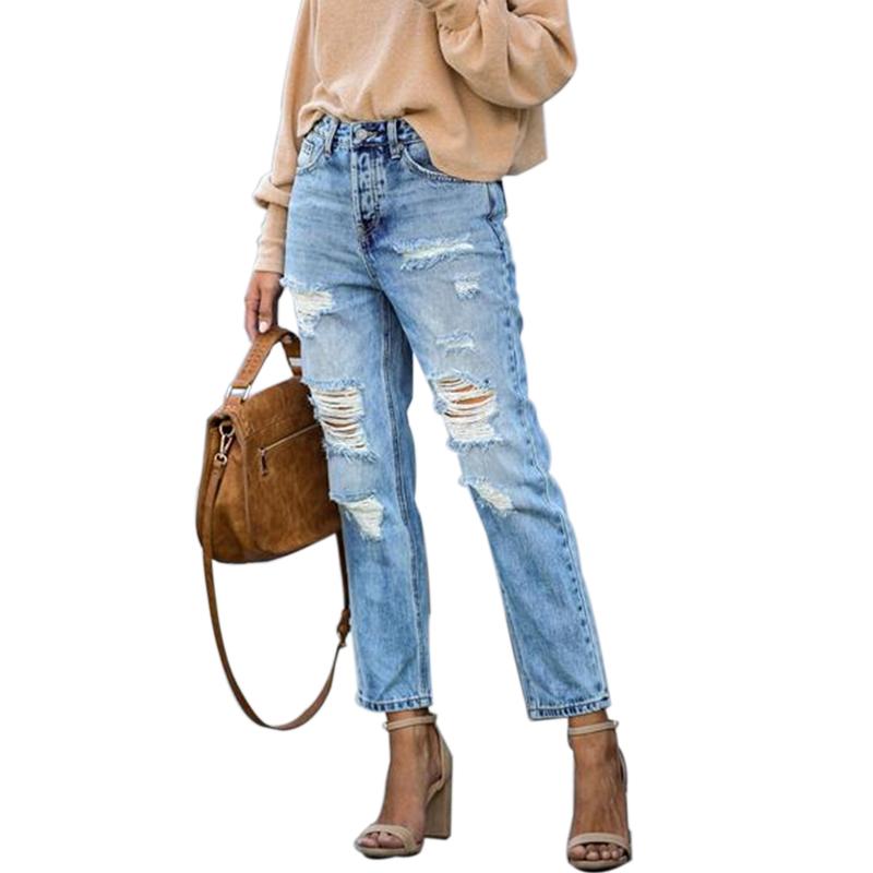Vaqueros Rasgados Para Mujer Pantalones Holgados Azules Vintage Para Mujer De Cintura Media Vaqueros Holgados Para Mama Pantalones Vaqueros Informales Para Mujer Buy Jeans De Mezclilla De Cintura Media Jeans Rasgados De Mujer Jeans Para Mujer Product