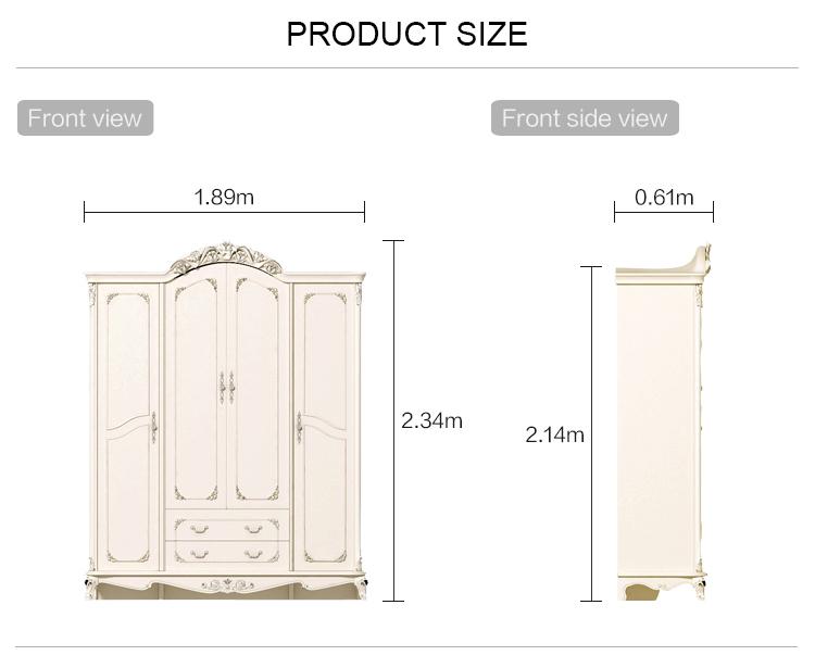 Linsy Home economical bedroom wardrobe modern minimalist european style furniture wardrobe