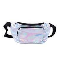 Fashion Waterproof Festival Casual Hip Pack Sling Bag Girls Holographic Shiny Fanny Pack Women