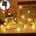 Bolylight 30 Led Garden Globe Chinese Lantern Bulb Powered Outdoor Energy Solar Waterproof String Lights For Christmas