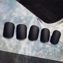 Горячая распродажа 24 шт Съемные носимые матовые накладные ногти полное покрытие короткий стиль конфетный цвет поддельные ногти(Китай)