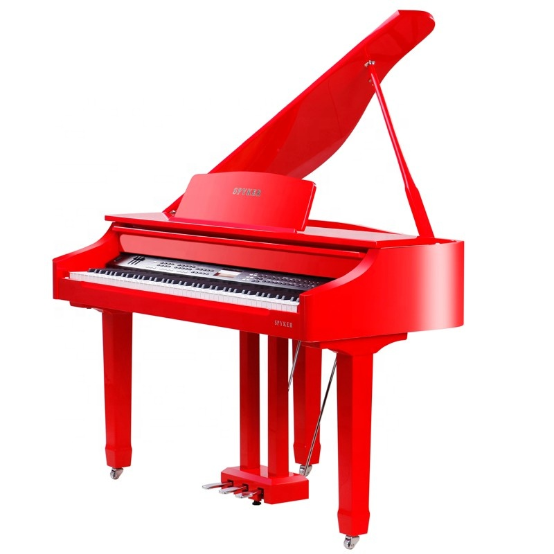 Alibaba.com / HD-W120 Hot Sale Top Quality Red Smart Digital Grand Piano Grand Graded Action Hammer