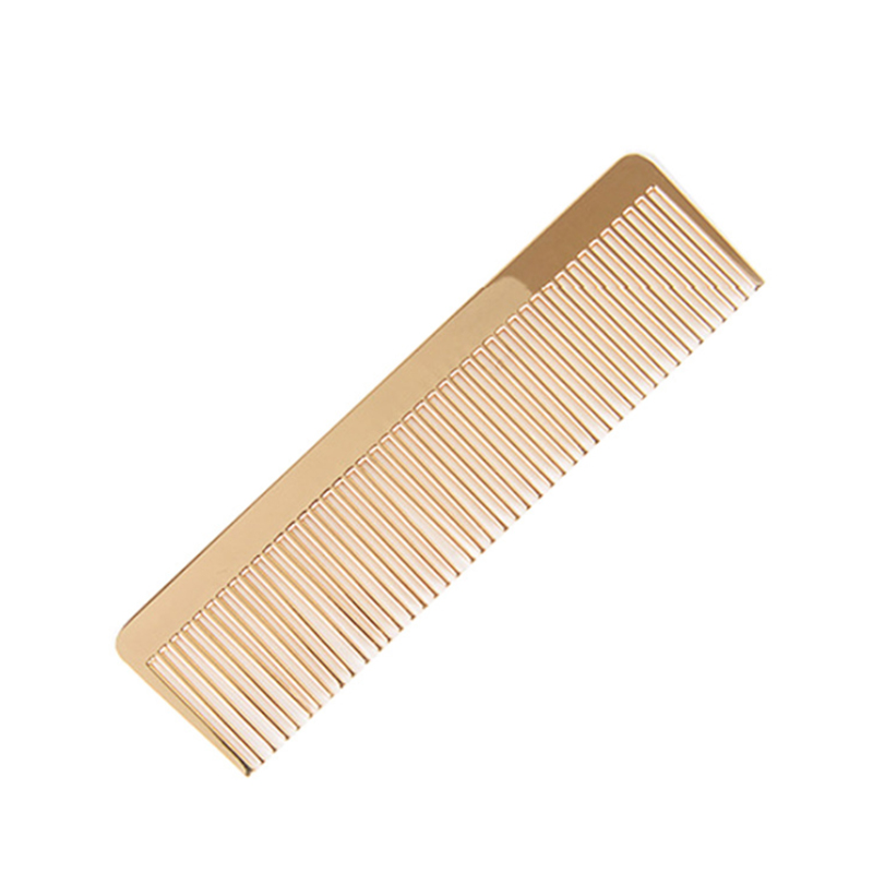 Gold color Nordic style plating metal hair beard shaping lice combs