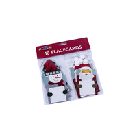 Factory Direct Wholesale Paper Holiday Gift Santa Claus Christmas Place Cards